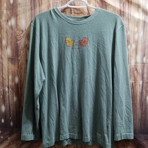 Life is good long sleeve tee size large